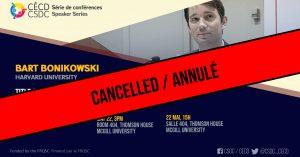 ANNULÉ - Série de Conférences - Bart Bonikowski @ Salle 404, Thomson House, McGill