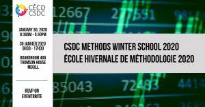 6e École d'Hiver de Méthodologie du CÉCD @ Salle 406, Thomson House, McGill