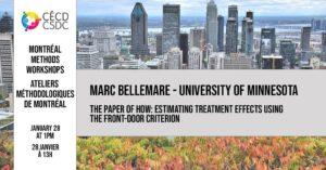 Ateliers méthodologiques de Montréal – Marc Bellemare