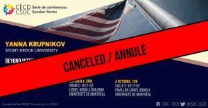 CANCELED Speaker Series - Yanna Krupknikov @ Room C-1017-02, Lionel Groulx building, UdeM