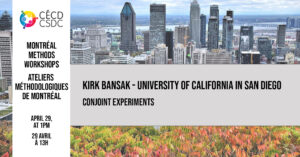 Montreal Methods Workshops - Kirk Bansak