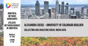 Montreal Methods Workshops - Alexandra Siegel