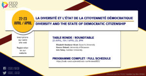 CSDC Conference - Diversity and the State of Democratic Citizenship