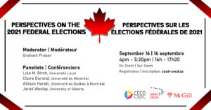 Perspectives on the 2021 Federal Elections @ Zoom